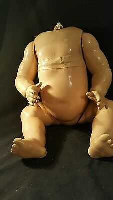 "Large 15"" ANTIQUE COMPOSITION Baby DOLL BODY Repaint"