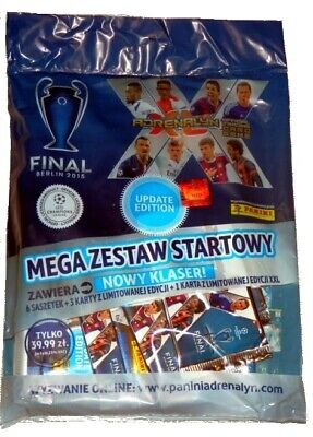 Box Champions League 2015 UPDATE Adrenalyn XL Panini 50 boosters -300cards