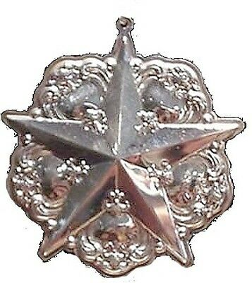 Gorham Chantilly Star Sterling Silver Christmas Ornament