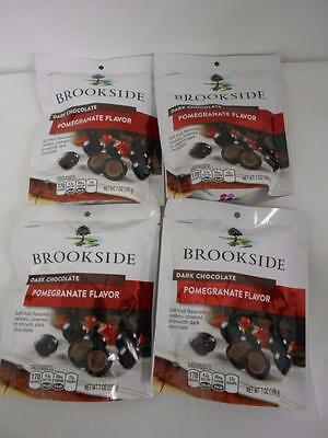 Brookside Dark Chocolate Pomegranate Flavor Pack of Four 7 oz packages