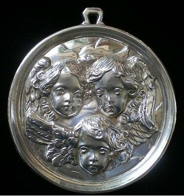 Gorham Baroque Angels Sterling Silver Christmas Ornament