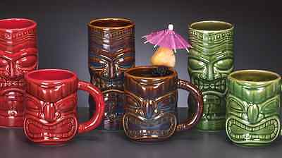 NEW EXCLUSIVE Libbey Complete 2015 Collection Tiki Glasses & Mugs Tumblers 6-pc.
