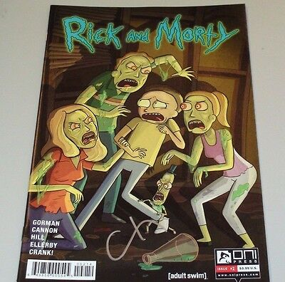 Rick and Morty #2 variant NOT 1st print comic signed by artist CJ Cannon! Oni!