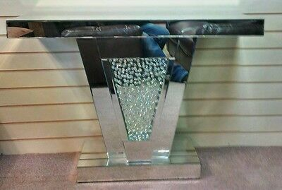 Mirrored Console Floating Crystal Hall Table Super Quality Miiror Style Vienna