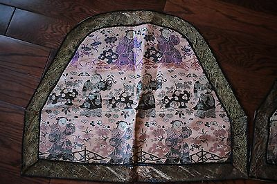 Antique Chinese Silk Blanket - Two Pieces
