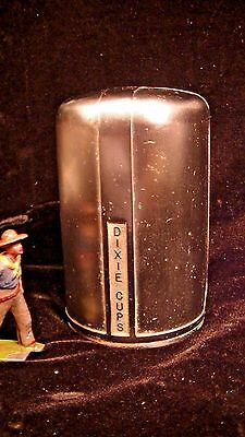 Railroad Dining Car 50's Silver Dixie Cup Wall Mount Dispenser  Lot#9255