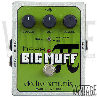 Electro Harmonix Bass Big Muff Pi Distortion Guitar Effects Pedal