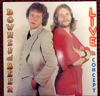 """DOWNES AND BEER """"Live In Concept"""" 12"""" VINYL LP"""