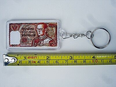Collectible Memory Gift Little Thai 100 Baht Banknote  Keychain Keyring Pendant