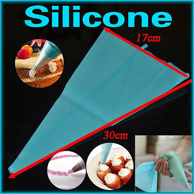 3 Size Silicone Reusable Icing Piping Cream Pastry Bag DIY Cake Decorating Tools