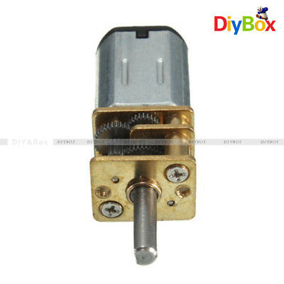 30RPM Micro Speed Reduction Gear Motor with Metal Gearbox Wheel DC 6V N20
