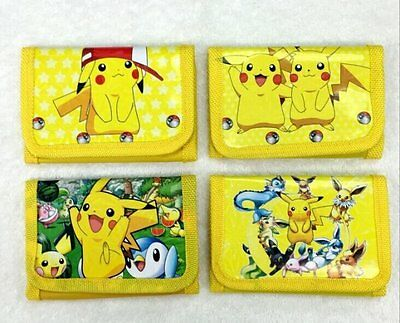 2016 Pokemon Pikachu Wallet Coin Purse Bag Unisex Birthday Party Lolly Supplies
