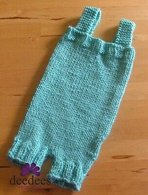 ~ NEW Baby Knit ROMPER SUIT - Photo Prop *Mint Green* Preemie-NB *QLD MADE* ~
