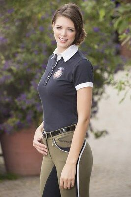 Ladies Polo Shirt -Polo classic- by HKM - 6697 RRP $69.95 in deep blue
