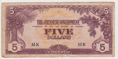 (YAC-68) 1942 Japan $5 invasion money WWII