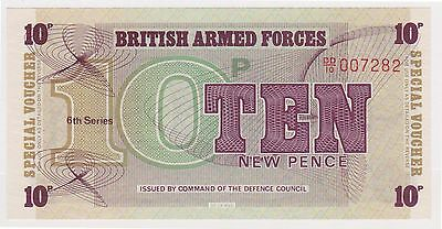 (YAC-16) 1972 GB 10pence military bank note (C)