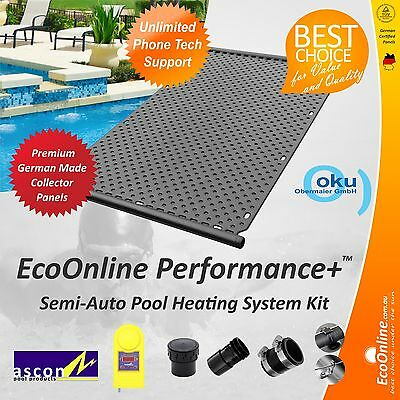 Premium Quality DIY 8 Panel Semi-Automatic Solar Pool Heating System Kit