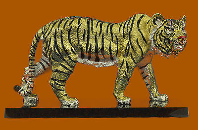 Large Indian 24K Gold Silver Plated Bronze Sculpture Museum Quality FigureEf