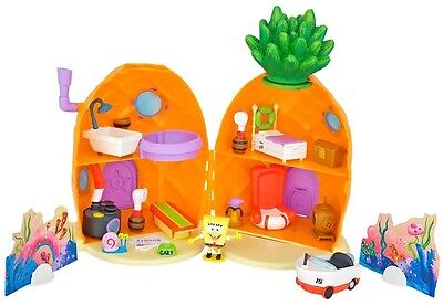 SpongeBob Gary Pineapple Play Set Figure Movable Stations Kids Children Fun Toy