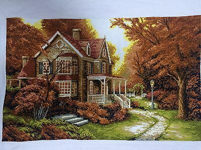Cross stitch maple leaves Villa beautiful autumn finished completed gift on sale