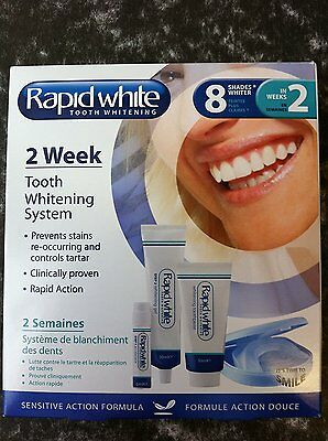 RAPID WHITE 2 WEEK TOOTH WHITENING 8 SHADES new & sealed