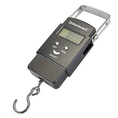 Silverline 40kg Electronic Pocket Scale Balance Metric Imperial Backlight 243857
