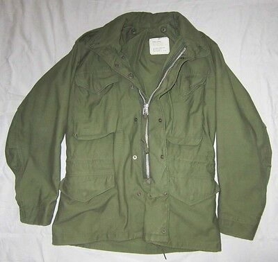 Original US Army PARKA M-65 Small/Short Armee Jacke Jacket Cotton/Nylon Vietnam?