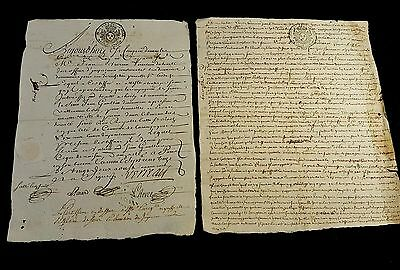 Lot Of Two Documents  1712,1713