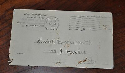 WWI 1918 Draft Board Classification Card Postcard Division 3 Louisville KY
