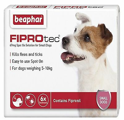 Beaphar FIPROtec for Small Dogs - 5 - 10 kg - 6 Pipettes