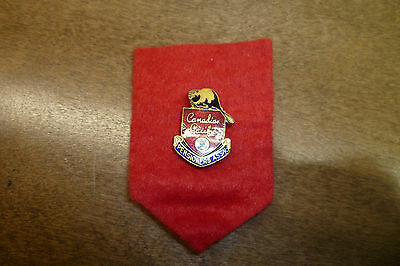 Vintage Canadian Pacific Railway Pensioners Ass'n Pin C. 1950S