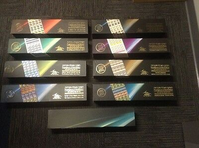 Israel stamps 2011-2016 set of eight uncut imperforate signed sheets. MNH