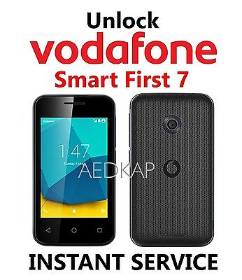 Unlock Code Vodafone Smart First 7 VFD 200 V200 Via IMEI Service