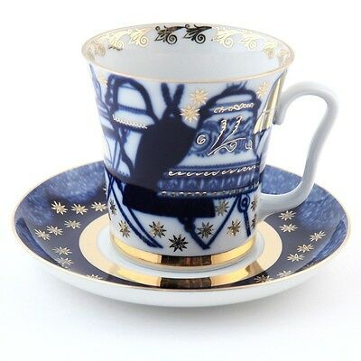 Imperial Lomonosov Porcelain Bells Mug and Saucer Set