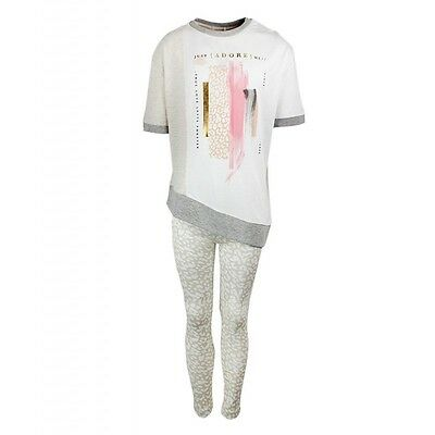 NEW Girls River Island Two Piece Legging &Top Set Ages 3,4,5,6,7,8,9,10,11,12Yrs