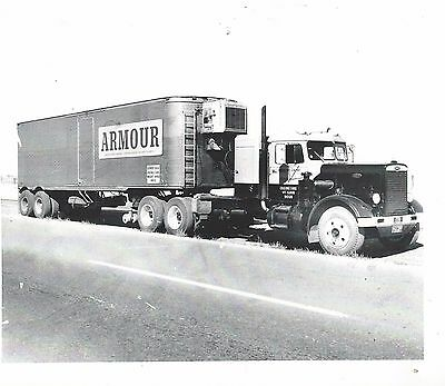 "Photo - Peterbilt Needlenose with reefer.  ""Armour Meats"""