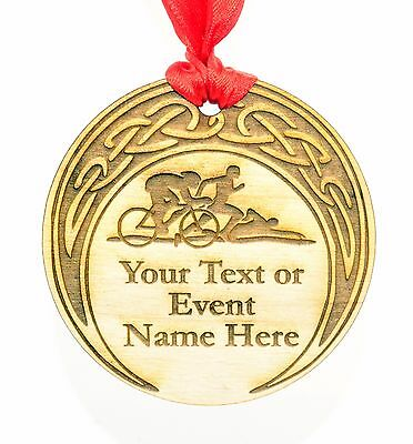 Personalised 7cm Diameter Sports Medal. Your choice of shape, text and graphics.