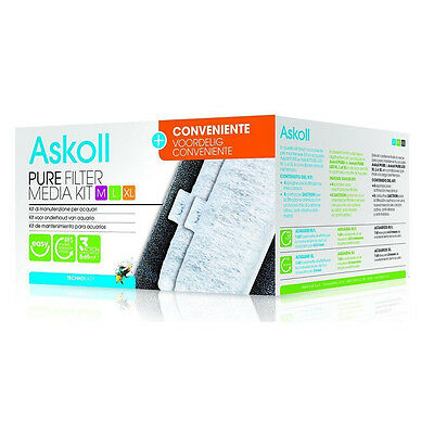 Askoll Pure Filter Media Kit M L Xl + Conveniente Con Cartucce 3Action