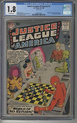 JUSTICE LEAGUE of AMERICA #1 CGC 1.8 OW Pages DC Silver Age KEY Issue