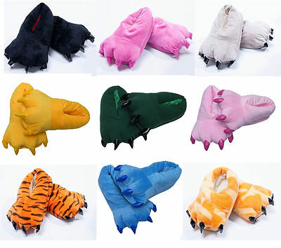 Onesie Slippers Kigurumi Pajamas Unisex Cosplay Animal Shoes Paw Claw 9 Colors