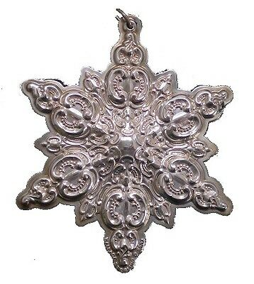 2004 Wallace Snowflake Sterling Silver Christmas Ornament 7th Edition