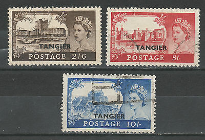 Morocco Agencies Tangier 1955 Qeii Castles Set Used