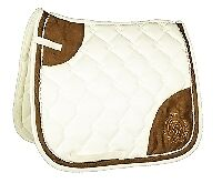 SADDLE PAD-CHAMPAGNE by HKM-4998 RRP $74.95