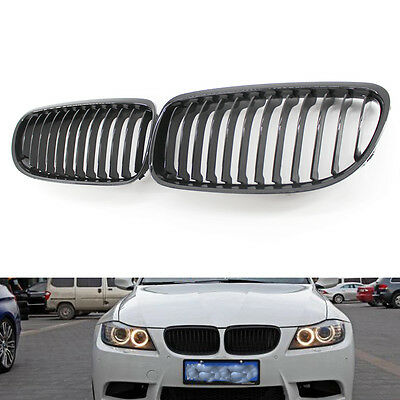 Front Gloss Black Grille Grilles for BMW E90 2009-2011