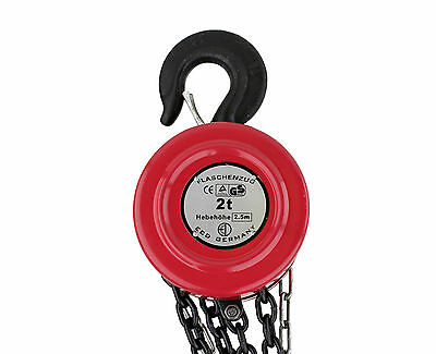 2000kg Pulley Chain Hoist 2.5m Chain Hoist Cable Control Hand Pulley Crane New
