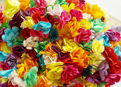 200! Tiny Handmade Mulberry Paper Flowers - Colour Mix - Ideal Bouquet Fillers!