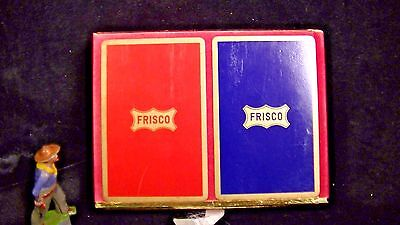 Frisco Railroad Playing Cards, Sealed Double Deck Congress  Lot#91725a