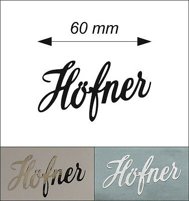 ONE self-adhesive PVC film Hofner Logo Sticker. Different colours are available