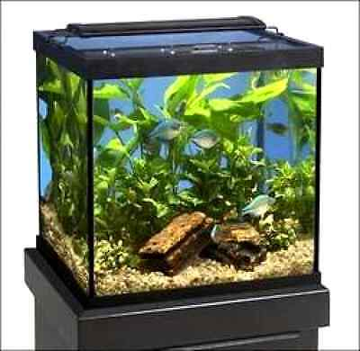 Marineland (Aquaria) AMLNV18080 Glass Cube and Column Aquarium Tank, 27-Gallon,