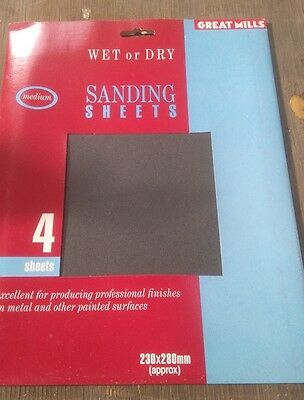 Job Lot Sand Paper 300 Packs Of 5 Ideal For Resale Or Tradesman See Listing !!!